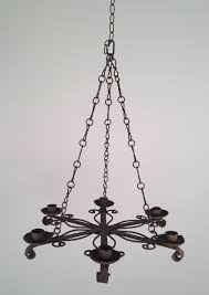 five candle holder wrought iron chandelier 1920s 6 631 00 per piece