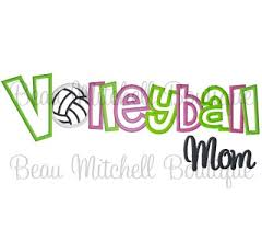 Volleyball Word Volleyball Word Mom
