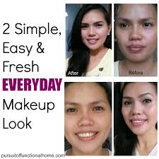 2 simple easy and fresh everyday makeup look