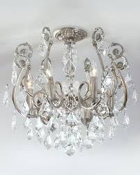 crystal flush mount chandelier chrome crystal flush mount chandelier