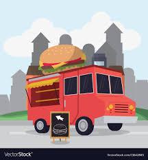 Food Truck Design Colorful Food Truck Design