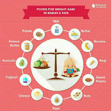 9 Month Baby Weight Gain Food Chart Food Chart And Weight Gaining Foods