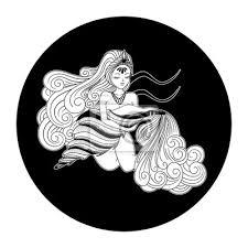 Plakát Vodnář Znamení Zvěrokruhu Horoskop Symbol Vektorové Ilustrace