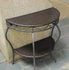 dark brown half moon end table outdoor
