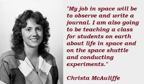 """Image result for """"Teacher in Space"""" Christa McAuliffe was killed during the 1986 Challenger disaster,"""