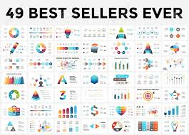 Vector Infographics Set 49 Slides Best Sellers Circle Diagrams