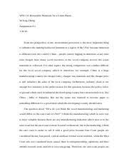als argument analysis essay rewrite yutong zheng als  2 pages wse 111 renewable materials for a green planet 2