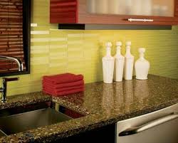 Kitchen And Granite Glass Subway Tile Green Color Kitchen And Granite Countertop