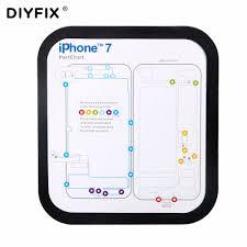 Chart Keeper Us 7 99 Diyfix Phone Repair Tools Kit Magnetic Screw Keeper Memory Chart Mat For Iphone 6 6s Plus 7 7 Plus Teardown Repair Guide Pad In Hand Tool