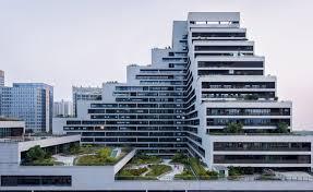 office block design. zhubo design shenye tairan building green roof office shenzhen courtyard block design h