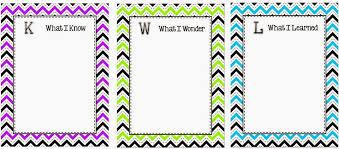 Kwl Chart Best KWL Chart Classroom Freebies