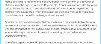 Babysitter Reference Letter Babysitter Reference Letter 3