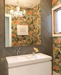 Powder Room Wallpaper Bathroom Mediterranean Powder Room Ideas Airmaxtn