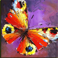 Living Room Oil Paintings Handmade Butterfly Picture On Canvas Modern Decoration Oil