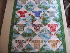 Bric-a-brac Quilter: Aloha Shirt Quilt   Ooo Crafty!   Pinterest ... & Another Aloha Shirt Quilt Adamdwight.com