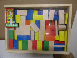 Melissa And Doug Classic Wooden Toys Domino Rally - shopgoodwill.com