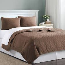 comforter and coverlet set chocolate brown velvet touch twin xl quilt bedding 12