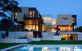 Exterior Modern Contemporary House Architecture On Home Design With