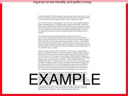 aquinas on law morality and politics essay homework academic  aquinas on law morality and politics essay st thomas aquinas and the natural law tradition