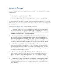 a narrative essay starting a narrative essay