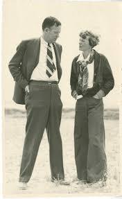 best george palmer putnam amelia earharts husband images on amelia earhart and george palmer putnam standing in a field