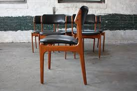mercurial and mint erik buck 49 danish mid century modern teak dining chairs