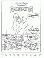 1 Kleurplaat Van Aristokatten