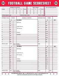 Football Score Sheet Template Rating Interview Images Of Scoring
