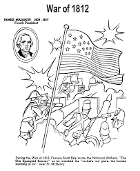 Small Picture USA Printables The War of 1812 US History Coloring Pages