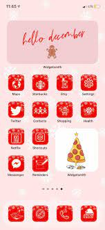Winter Aesthetic iOS 14 Icons, Holiday ...