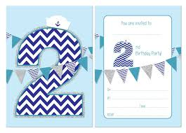 Birthday Invitations Boy Second Birthday Party Invitations Boys Nautical Theme With Bunting 24 X A6 Postcard Size Cards With Envelopes