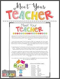 Meet The Teacher Letter Templates Free Back To School Flyer Template Clipart Images Gallery
