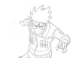 coloring pages naruto shippuden sasuke anime colored