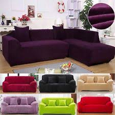 sectional sofa covers. Plush Sectional Sofa Couch Covers 1 2 3 4 Seater Elastic Slipcover Solid Thick C