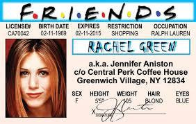 The Ebay Of Jennifer Id Friends License Show Drivers Aniston Card Green Tv Rachel