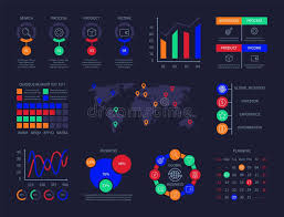 Control Panel Infographic Charts Analysis Technology Hud