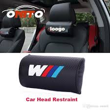 practicality carbon fiber leather car rest protection neck pillow headrest sleep for e60 e90 f10 f30 f15 e63 heated seat cushion for car heated seat