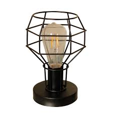 Magland Small Lamp Retro Industrial Lamps Metal Shade Table Lamp