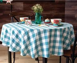 70 inch round linen tablecloth pioneer woman charming check round tablecloth blue teal country decor new 70 inch round linen tablecloth