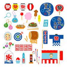 日本の夏祭りのイラスト素材ベクタ Image 30153465