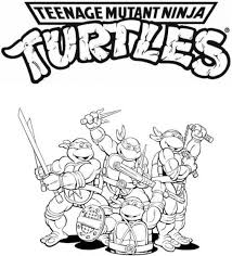 Small Picture Coloring Pages Teenage Mutant Ninja Turtles Coloring Page Free