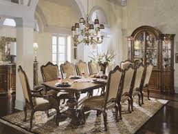 Dark Brown Varnish Long Wooden Dining Table Formal Dining Room Chairs Chrome  Formal Dining Room Ideas Shape Metal Legs Elegant Dining Chairs Features