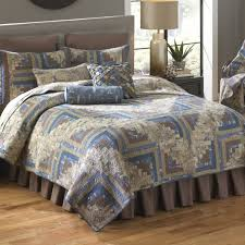 nautical log cabin quilts throws shams pillows and accessories by donna sharp