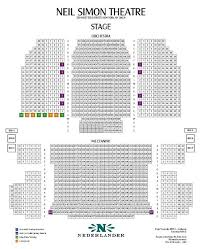 Seating Chart For Neil Simon Theater In Nyc Neil Simon Theatre Seating Chart