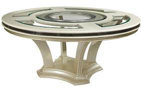 details modern pearl round glass dining table