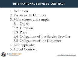 This service contract template assumes a pure labor based contract with certain software involved. International Services Contract Contract Template And Sample