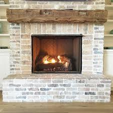 review whitewash brick fireplace