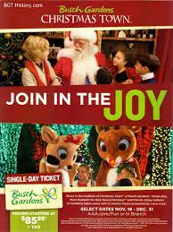 this full page ad appeared inside the back cover of the aaa living in their last issue of the year promoting town at busch gardens tampa