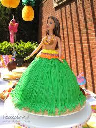 Hawaiian Barbie Cake