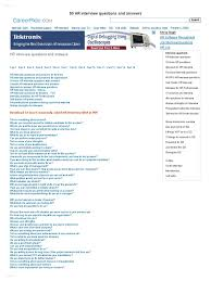hr interview questions and answers hr interview pdf interview